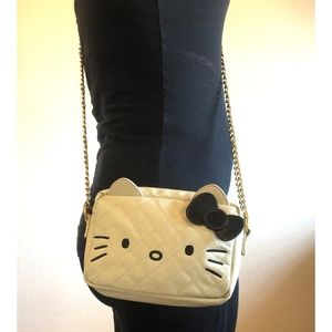 Hello Kitty Crossbody Quilted Purse with Chain